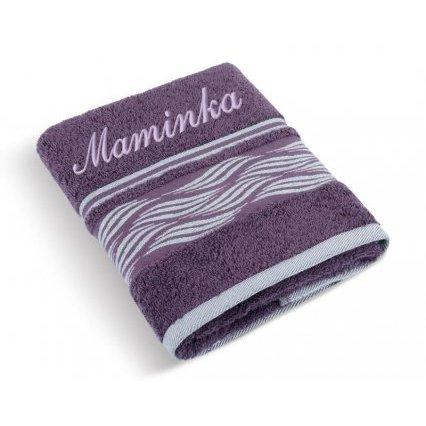 Froté ručník Vlnka se jménem MAMINKA