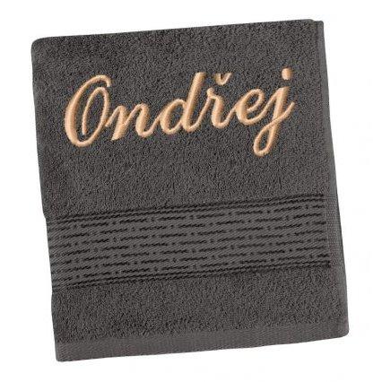 Froté ručník proužek s výšivkou jména Ondřej
