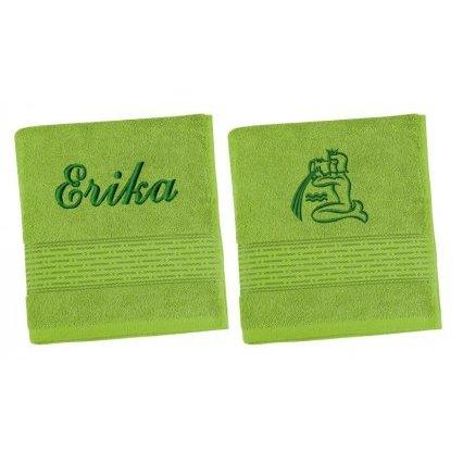 Froté ručník proužek se jménem