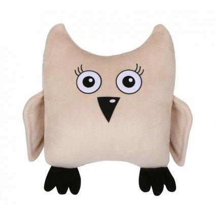 Tvarovaný polštářek sova béžová