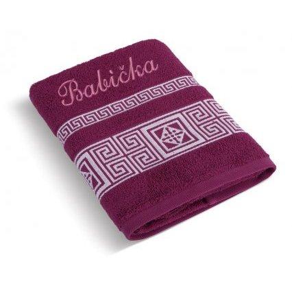 Froté ručník řecká kolekce se jménem BABIČKA