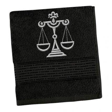 Froté ručník proužek s výšivkou znamení zvěrokruhu